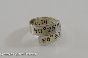 Coordinates Ring - Latitude and Longitude