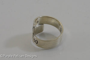 Coordinates Ring - Latitude and Longitude - Purple Pelican Designs