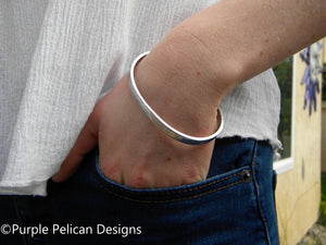 Teacher's Gift Cuff Bracelet - Thanks For Helping Me Grow - Purple Pelican Designs