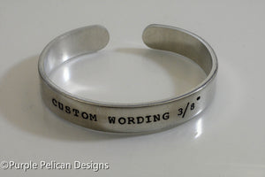 Custom Personalized Cuff Bracelet