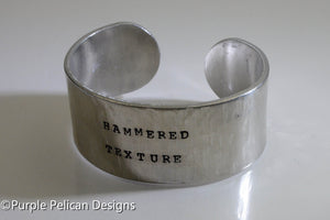 Custom Personalized Cuff Bracelet - Purple Pelican Designs