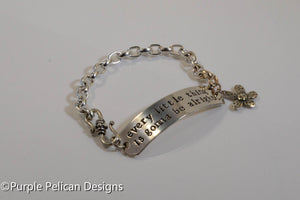 Bob Marley song lyrics chain bracelet - every little thing is gonna be alright - Purple Pelican Designs