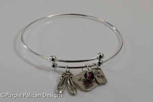 Personalized Dancers Sterling Silver Expandable Bangle