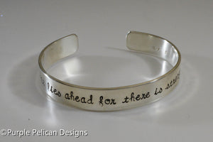 Fear Not What Lies Ahead For There Is Strength Behind You - Purple Pelican Designs