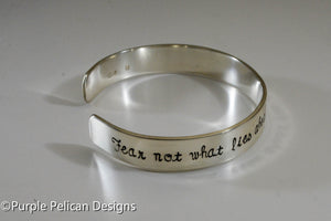 F---K CANCER bracelet - Fear not what lies ahead for there is strength behind you - Purple Pelican Designs