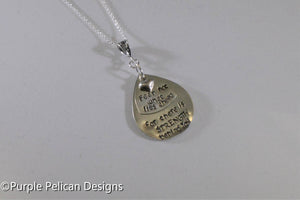 F---K CANCER necklace - Fear not what lies ahead for there is strength behind you - Purple Pelican Designs