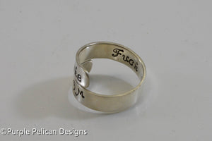 Fight Like A Mom Ring - Purple Pelican Designs