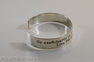 Graduation Bracelet - Go Confidently In The Direction Of Your Dreams... - Purple Pelican Designs