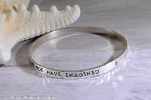 Graduation Bangle - Go Confidently In The Direction Of Your Dreams...Sterling Silver - Purple Pelican Designs