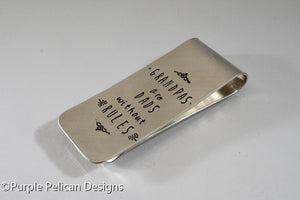 Grandpas Are Dads Without Rules Money Clip - Purple Pelican Designs