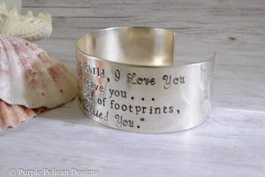 Footprints in the sand bracelet - Purple Pelican Designs