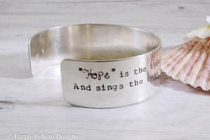 Emily Dickinson Poem - Hope Is The Thing With Feathers That Perches In The Soul... - Purple Pelican Designs