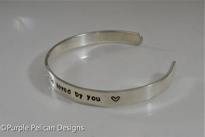 Song Lyric Bracelet - How sweet it is to be loved by you - Purple Pelican Designs