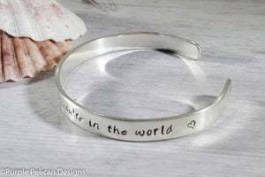 Song Lyric Bracelet - How wonderful life is while you're in the world - Purple Pelican Designs