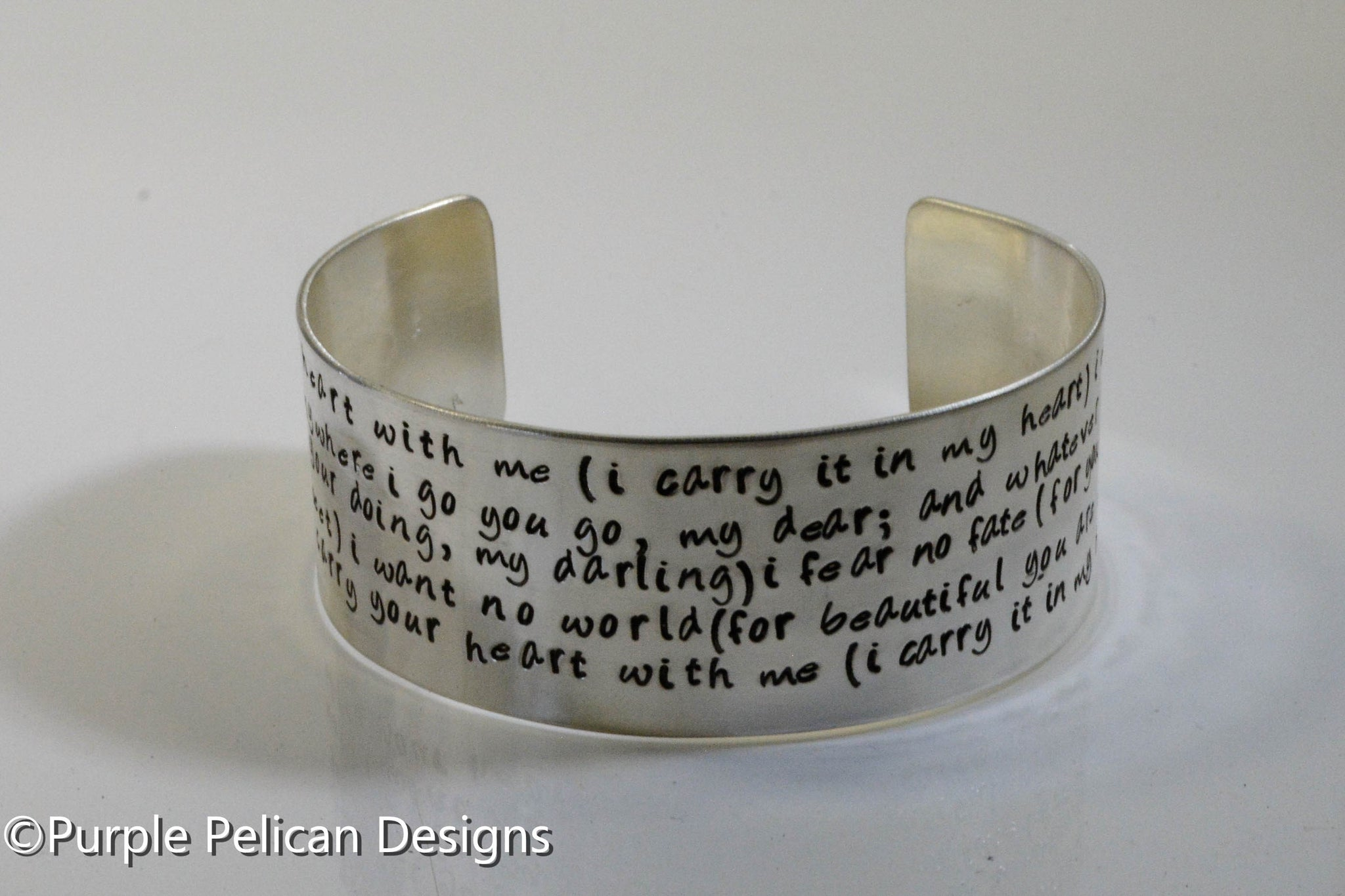 I Carry Your Heart With Me Hand Stamped Eecummings Poem Bracelet
