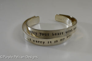 I carry your heart with me bracelet set - Purple Pelican Designs
