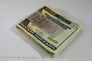 Dad's Money Clip - I Smile Because You Are My Dad, I Laugh Because There's Nothing You Can Do About It - Purple Pelican Designs