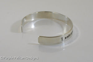 I solemnly swear that I am up to no good - Hand Stamped Bracelet - Purple Pelican Designs