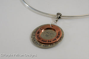 Memorial Necklace - I will hold you in my heart until I can hold you in heaven