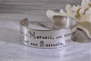 Mermaid Bracelet - I wish I were a mermaid... - Purple Pelican Designs