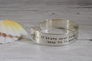 Pooh quote cuff bracelet - If there ever comes a day... personalized jewelry- Purple Pelican Designs