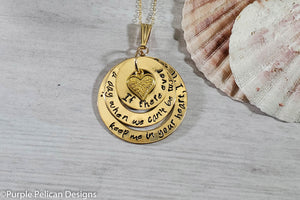 14k Gold Filled Pooh Quote Necklace - If There Ever Comes a Day... - Purple Pelican Designs