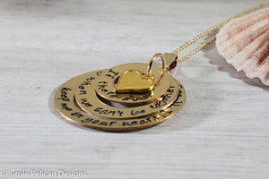 14k gold filled pooh quote friendship love quote pendant necklace purple pelican designs
