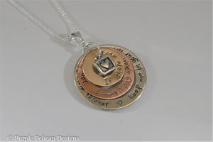 Sterling Silver and Gold Pooh quote necklace - If there ever comes a day... - Purple Pelican Designs