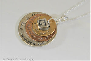 Sterling Silver and Gold Pooh quote necklace - If there ever comes a day...