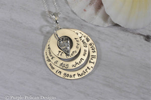 Sterling Silver Pooh quote necklace - If there ever comes a day... - Purple Pelican Designs