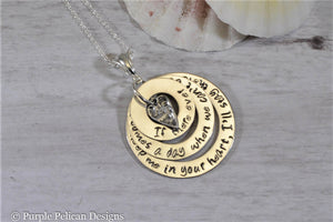 winnie the pooh quote sterling silver pendant necklace if there ever comes a day when we can't be together, keep me in your heart i'll stay there forever hand stamped jewelry personalized