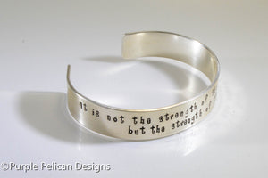 F---K CANCER bracelet - It is not the strength of the body that counts... - Purple Pelican Designs