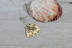 Let It Be Sterling Silver Pendant Necklace - Purple Pelican Designs