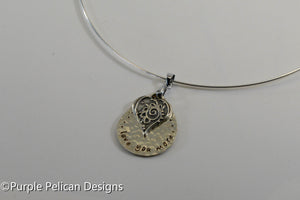 Love You More Sterling Silver Necklace - Purple Pelican Designs