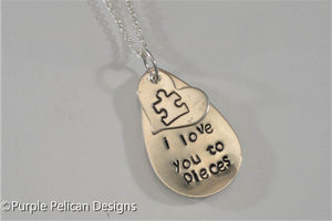 I Love You To Pieces Necklace - Purple Pelican Designs