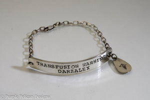Medical Alert Chain Bracelet - Purple Pelican Designs