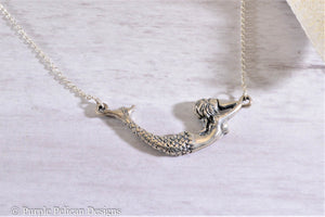 Mermaid Necklace - Solid Sterling Silver - Purple Pelican Designs