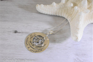 Mother Daughter Pendant Necklace Miles Cannot Separate The Hearts Of Mother And Daughter - Purple Pelican Designs
