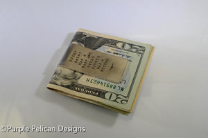 Money Clip - Every Saint Has A Past And Every Sinner Has A Future - Purple Pelican Designs