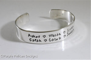 Mother's or Father's Bracelet - Personalized with children's names - Purple Pelican Designs