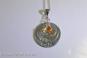 Sterling Silver Personalized Mother's Pendant - Purple Pelican Designs