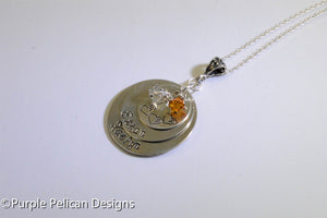 Sterling Silver Personalized Mother's Pendant