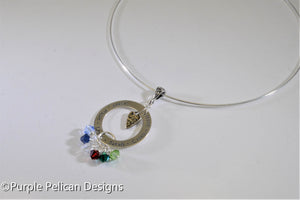 Mother's Pendant - Personalized with Birthstones