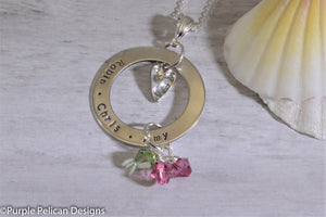 Mother's Pendant - Personalized with Birthstones - Purple Pelican Designs