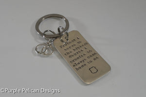Police Keychain - Protect And Serve To The Highest Degree... - Purple Pelican Designs