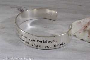Winnie the Pooh quote bracelet - Remember you are braver than you believe stronger than you seem and smarter than you think  - Purple Pelican Designs