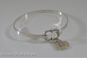 See The Able Not The Label - Autism Awareness Hinged Bangle - Purple Pelican Designs