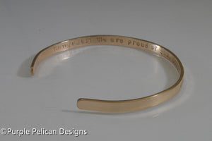 Solid Gold Custom Cuff Bracelet