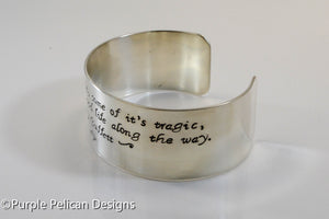 Jimmy Buffett Song Lyrics Bracelet - Some Of It's Magic, Some Of It's Tragic... - Purple Pelican Designs