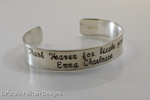 New Mothers Bracelet - Thank heaven for little girls/boys - personalized